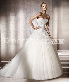 Pretty  A-line Sweetheart Floor-Length Organza Wedding Dresses 2012 Spring Trends
