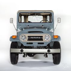 Our finished 1971 Toyota LandCruiser FJ43 Grey. The Detail photos are now… #toyotavintagecars