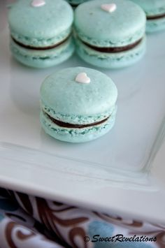 macarons- love the brown and teal