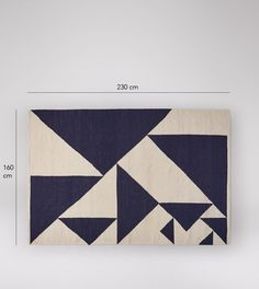 Laleli Contemporary style, Large Navy & Cream Rug