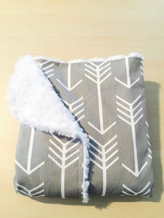 NEW YEAR'S SALE Chic Baby Blanket Gender Neutral Gray by BizyBelle