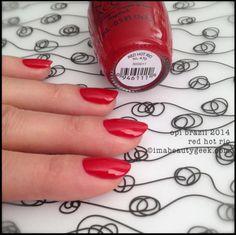Brazil 2014 | OPI - Red Hot Rio http://www.matandmax.com/en/products/nails/opi/brazil-2014/opi-red-hot-rio.html