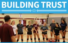 Trust-building exercises to build team chemistry in sports Cheer Games, Team Bonding Activities, Team Games, Volleyball Drills, Coaching Volleyball, Volleyball Party, Trust Games, Team Building Exercises, Basketball Mom