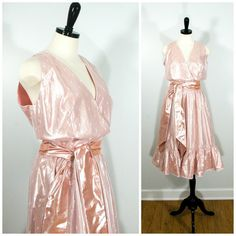 Pink Lame Dancing Dress Vintage Halston III by Flourisheshome  #GotVintage #Vintage   #Clothing #Fashion