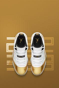 new arrival bb5d2 13dd8 Air Jordan 11 Retro Low  White   Metallic Gold  Release Date