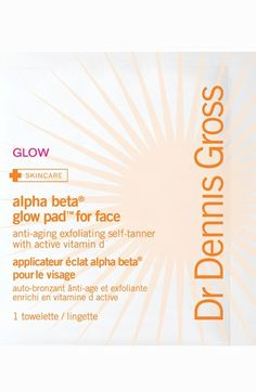 Dr. Dennis Gross Skincare 'Alpha Beta Glow Pads' Anti-Aging Exfoliating Self-Tanner for Face available at #Nordstrom