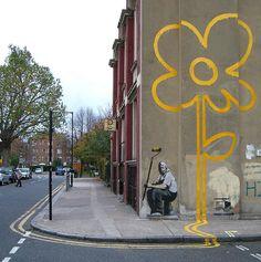 Banksy ~ street art at its best!
