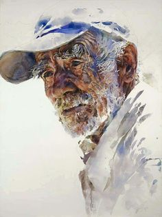 WOW, incredible portrait!  Wish I could read the name of the artist.  .