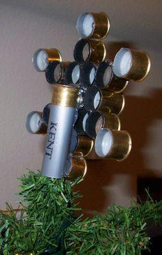 Shotgun Shell Tree Star by CraftyHuntress on Etsy