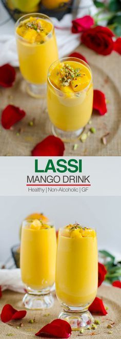 This lightened recipe for mango lassi is so easy to prepare & perfect to enjoy seasonal fresh mangoes. Love mangoes? You will love this healthy mango drink | watchwhatueat.com