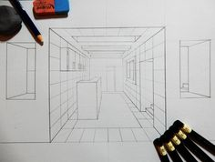 Drawing exercise for today. My new online class on perspective drawing is in the making. This is just the first example I prepared for my students. More to come. #skillshare #drawing #line #lineart #pencildrawing #illustration #perspective #artistsoninstagram #paper #dailydrawing