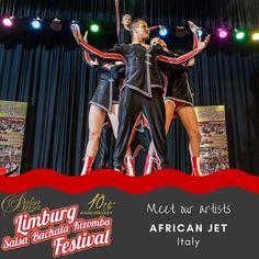 Meet the artists. Get your ticket at: LimburgSalsaFestival.com #10LSBKF #LSF #LSBKF #SalsaBrisa #Maastricht #Alwaysfun #Nonstopdancing #nonstopfun #africanjet
