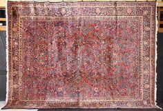 """Antique Persian Sarouk carpet, 12' x 16' 3"""""""