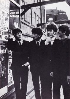 Paul McCartney, George Harrison, John  Lennon, and Richard Starkey (okay guys I think it's that way...! :D)