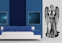 Weeping Angel Wall Sticker Suitable For Any Doctor Who Fans Home. Not For  The Faint Part 60