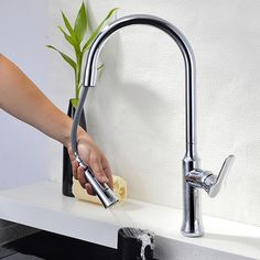 sink kitchen faucet--china manufacture pull out spray head brass sink kitchen faucet. Brass Kitchen Faucet, Lavatory Faucet, Shower Faucet, Bathroom Faucets, Kitchen Sink, Water Faucet, Water Tap, Waterfall Faucet, Basin Mixer
