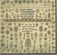 A YORKSHIRE LINEN SAMPLER WORKED BY CAROLINE THOMPSON BOYES 1848