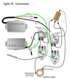 the guitar wiring blog - diagrams and tips: semi-active guitar,Wiring diagram,Wiring Diagram Electric Guitar Pickups