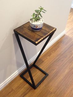 side table by steeltoperfection on Etsy