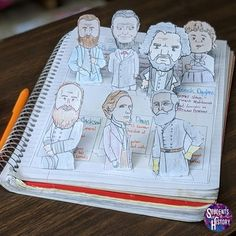 Civil War Leaders Pop Up Notes by Students of History Teaching American History, World History Teaching, World History Lessons, History Teachers, American Revolutionary War, American Civil War, Captain American, Middle School Us History, Pop Up