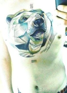 Geometric Bear, Friend Tattoos, Cool Tattoos, Animals, Colour, Ideas, Color, Animales, Animaux