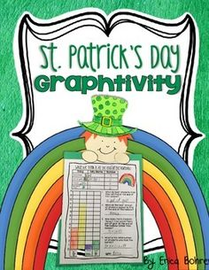 This is a St. Patrick's Day graphing and craft activity.  The activity is simple, engaging, and makes an easy hallway display.  Poll your students using a large whole class graph (graphing pieces and display sign included).  Your students will graph based on what they think they will find at the end of the rainbow.