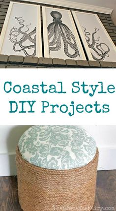 Check out these fun Coastal Style DIY Projects!