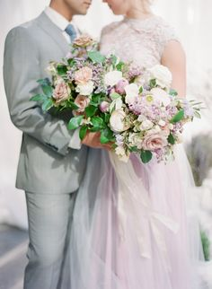 Beautiful pastel bouquet: http://www.stylemepretty.com/2016/07/01/how-to-bring-the-beauty-of-provence-to-your-wedding-day/ | Photography: ARTIESE Studios - http://artiesestudios.com/