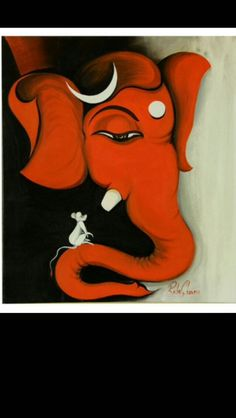 Lord Ganesha Paintings, Ganesha Art, Krishna Painting, Acrylic Painting Canvas, Canvas Art, Ganesh Images, Rangoli Designs Diwali, Buddha Painting, Tanjore Painting
