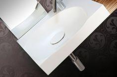SW3 sink. Material: Corian. Environment type: half bathroom
