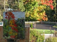 """Plein Air Oil Painting Demo """"October Trees"""" by Ramona Dooley WATCH IN HIGH QUALITY"""