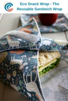 Reusable Sandwich Wraps for a Zero Waste Lunch!