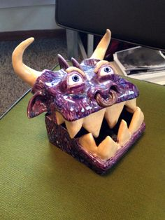 Original Ceramic Sculpture Monster Box. by JacobBosmoe on Etsy, $50.00
