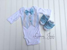 Newborn Boy Photo Outfit Newborn Boy Coming Home by LoveJesi