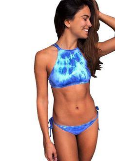 Ocean Blue Tie-Dye Bikini