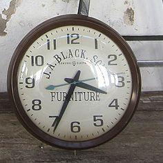 Furniture Advertising Clock -- we <3 big clocks