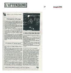 """""""L'Attenzione"""" Maggio 2006"""