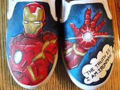 Iron Man Fan painted shoes!