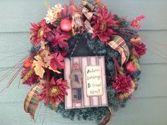 Pumpkin Man Fall Wreath by SimpleSouthernSass on Etsy, $58.00