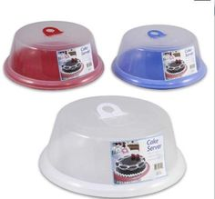 "12""D Assorted Plastic Cake Saver with Cover by 4sgm. $12.99"