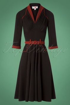 6baee5fd90d Miss Candyfloss Black and Red Dress 102 10 26320 20180815 0002W Swing Rock