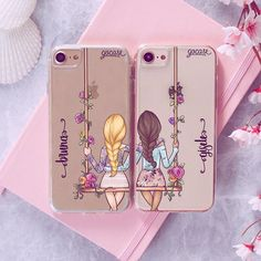 BFF – Floral (Right and Left) Source by b_stecher Bff Iphone Cases, Bff Cases, Iphone Cases Disney, Diy Phone Case, Cute Phone Cases, Iphone Case Covers, Best Friend Cases, Friends Phone Case, Pochette Iphone 6