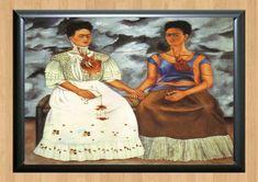 8.85AUD - Two Skeletons Art Print Big Eye Frida Kahlo Sugar Skull Love A4 Print Poster #ebay #Home & Garden