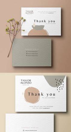 Stand out from the crowd with this minimal but abstract business card design template for your business/ brand! This is perfect for Make up artists, jewellery brands, beauty salons, bloggers and much more! This business card design will be personalised with YOUR details: business name & tagline. #Businesscard #Branddesigner #Graphicdesigner #designer #smallbiz #beautysalon #stationarydesign #girlboss #makeupartist #beautybranding #bossbabe #businesscardtemplate #designtemplate Thank You Card Design, Name Card Design, Thank You Card Size, Business Branding, Business Card Design, Stationery Business, Minimal Business Card, Business Thank You Cards, Art Business Cards