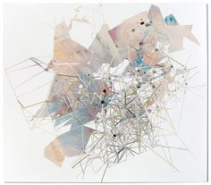 collapsible city | graphite, ink, tempera, and collage on paper by Artist Val Britton [via @booooooom]