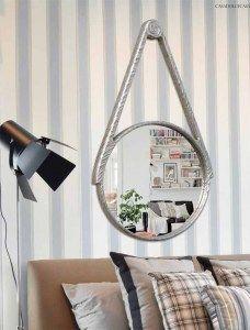 espejo decorativo plateado espejo de recibidor espejo moderno de