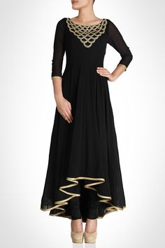 Black High-Low #Anarkali