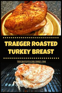 Traeger roasted turkey breast is an easy way to cook a delicious, well seasoned . - Traeger roasted turkey breast is an easy way to cook a delicious, well seasoned turkey breast on a - Traeger Recipes, Smoked Meat Recipes, Grilled Chicken Recipes, Grilling Recipes, Smoked Turkey Breast Recipe, Roast Turkey Breast, Grilled Turkey, Roasted Turkey, Traeger Smoked Turkey