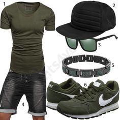 3f81f10b9fc Cooler Sommer-Style mit grünem Republix T-Shirt
