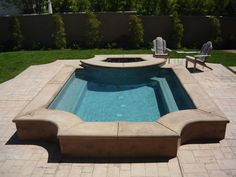 Raised spa, attached firepit